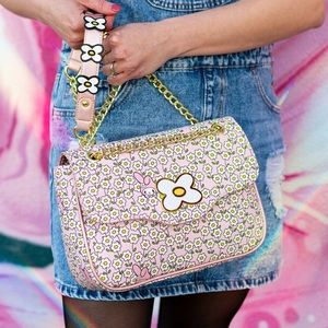 Hello Kitty My Melody Flower Field Crossbody Bag